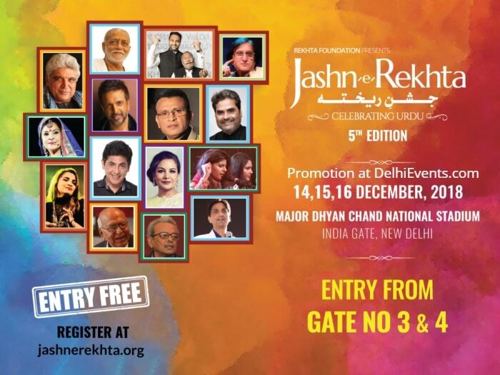 Jashn Rekhta Celebrating Urdu Major Dhyan Chand National Stadium Creative