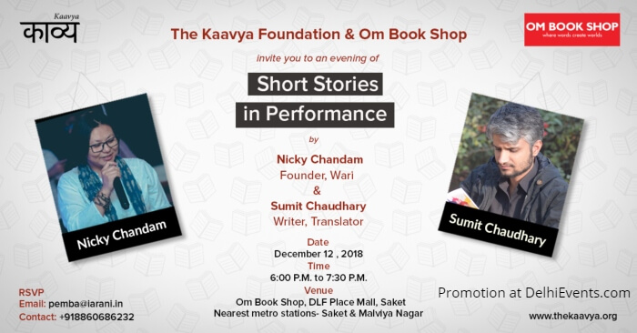 Short Stories Performance Nicky Chandam Founder Wari Sumit Chaudhary Om Book Shop Creative