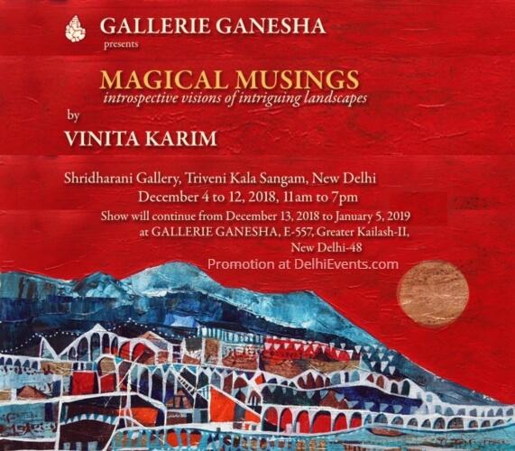 Gallerie Ganesha Magical Musings Solo show Vinita Karim Creative