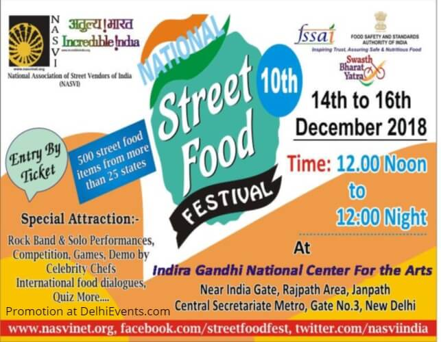 10th National Street Food Festival 2018 IGNCA Creative