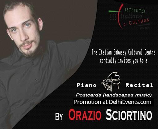 Postcards landscapes music Piano Orazio Sciortino Italian Centre Creative