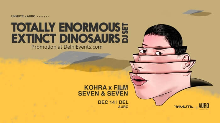 Totally Enormous Extinct Dinosaurs DJ Set DEL Auro Kitchen Bar Creative