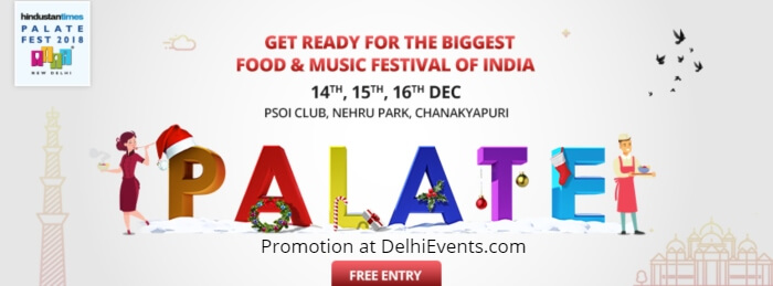 Palate Food Fest 2018 Nehru Park Creative