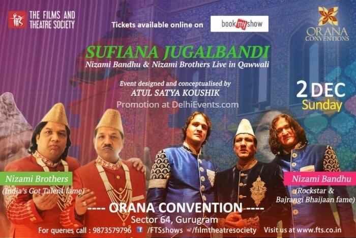 Film Theatre Society Sufiana Jugalbandi Nizami Bandu Brothers Orana Convention Creative