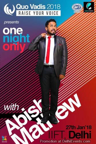Comedy Abish Mathew Quo Vadis 2018 IIFT Creative