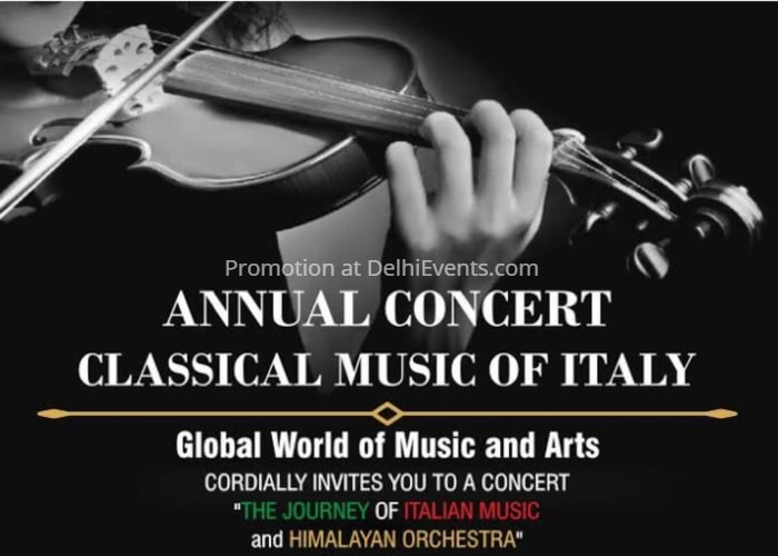 Annual Concert Classical Music Italy Creative