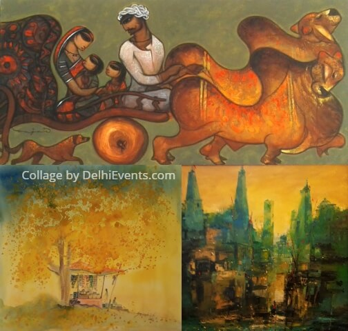 Incredible Indian Canvas Art Laureate Exhibition Artworks