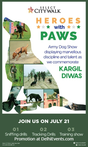 Indian Army Dog Show Select Citywalk Creative