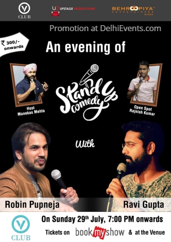 Behroopiya Entertainers Standup comic acts Ravi Robin Hinglish V Club Creative