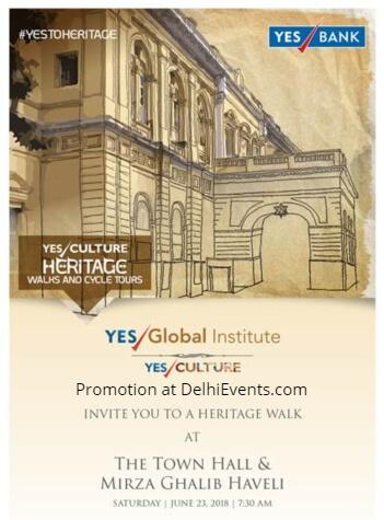 YES BANK Global Institute Arts Culture Heritage Walk Chandni Chowk Creative