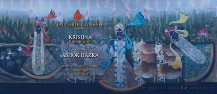 Krishna Enigma Solo show recent works Ashok Hazra Exhibition Creative