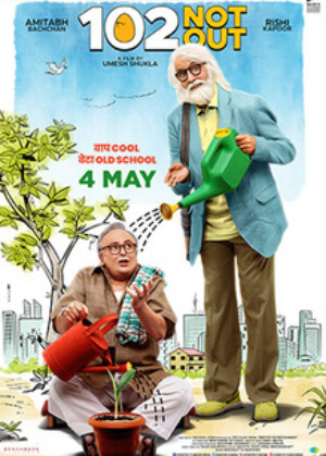 102 Not Out Comedy Film Amitabh Bachchan Rishi Kapoor Poster