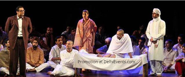 Asmita Theatre Group Ambedkar Aur Gandhi Hindi Play Still