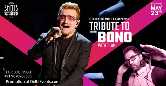 Celebrating Midlife Tribute Bono DJ AMI Saints N Sinners Creative