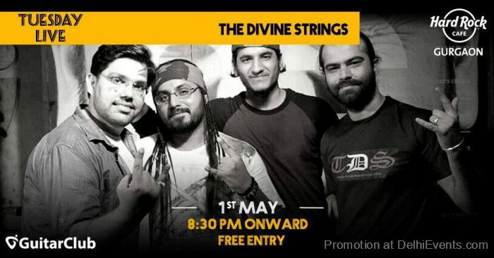 GuitarClub Divine Strings band Hard Rock Cafe Gurugram Creative