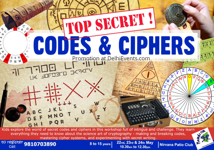 Hands On Top Secret Codes Ciphers Nirvana Patio Club Creative