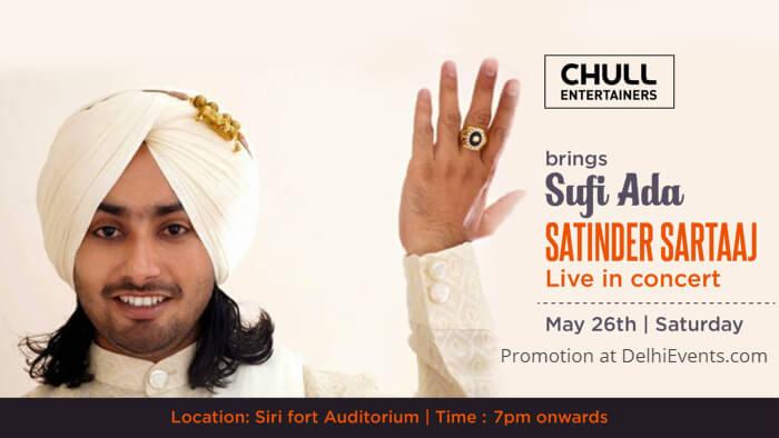 Sufi Ada Satinder Sartaaj Sirifort Auditorium Creative