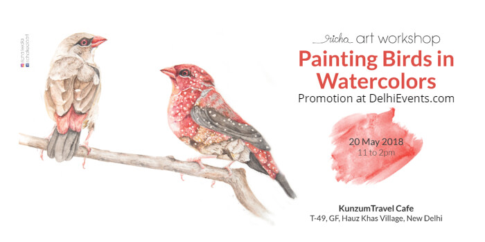 Painting Birds Watercolors Art Workshop Richa Kedia Kunzum Cafe Creative