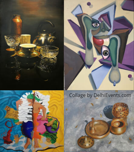 Collage Art Carnival 16th Annual Art Exhibition Delhi collage Artworks