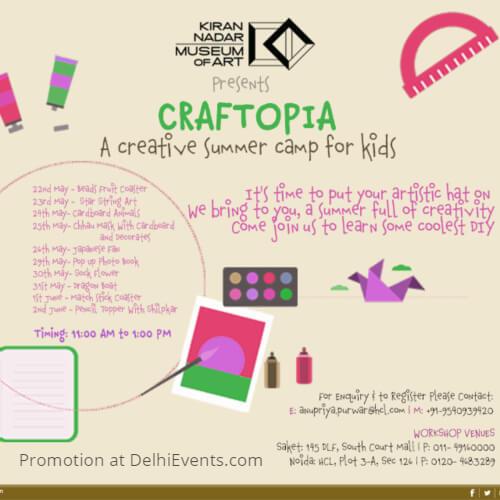 Craftopia creative summer camp kids KNMA Creative