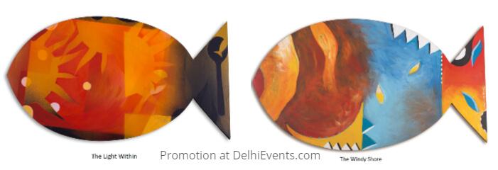 Matsya Panchtatvas Paintings Dhanwanti Bhatia