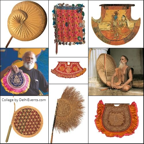 Pankha Collection Hand Fans Artworks Artist Jatin Das