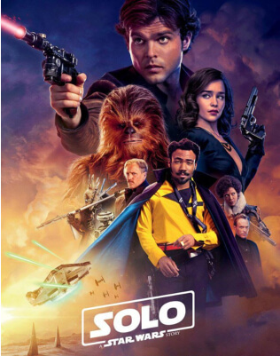 Solo Star Wars Story 3D Movie Poster