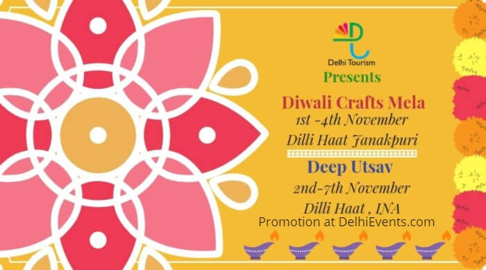 Delhi Government Diwali Mela Deep Utsav Dilli Haat Creative
