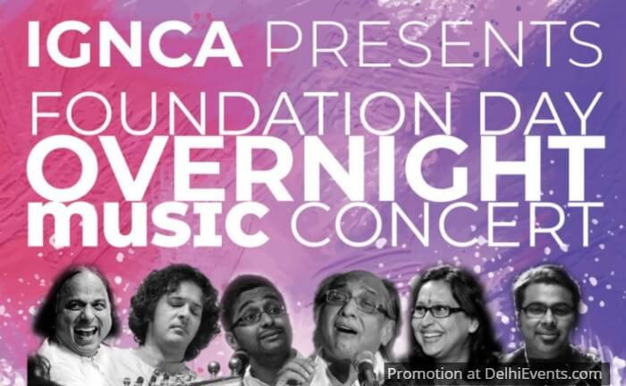 IGNCA Foundation Day Overnight Music Concert Creative