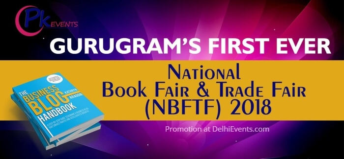 National Book Fair Trade Fair NBFTF Leisure Valley Gurugram Creative