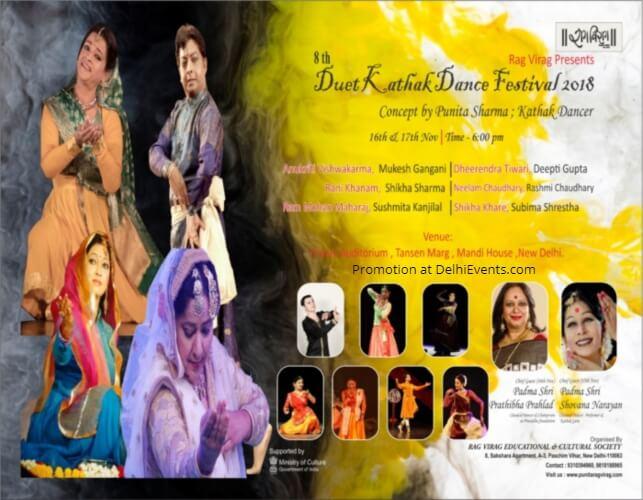 Rag Virag Duet Kathak Dance Festival 2018 Triveni Kala Sangam Creative