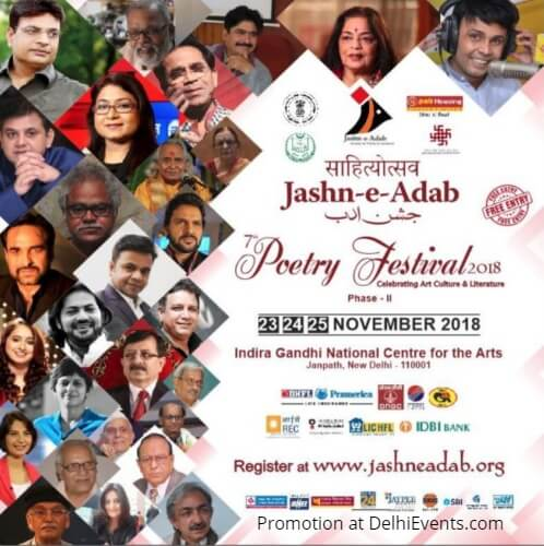 Sahityotsav Jashn Adab 7th Poetry Festival 2018 IGNCA Creative