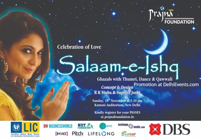 Prajna Foundation Salaam-e-Ishq Ghazals Thumri Dance Qawwali Kamani Creative