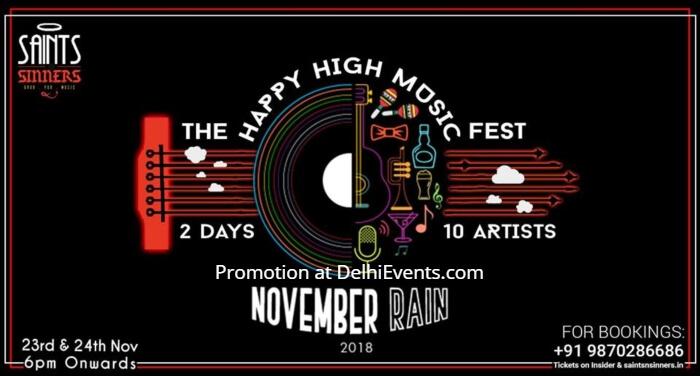 November Rain Happy High Music Fest Saints Sinners Creative