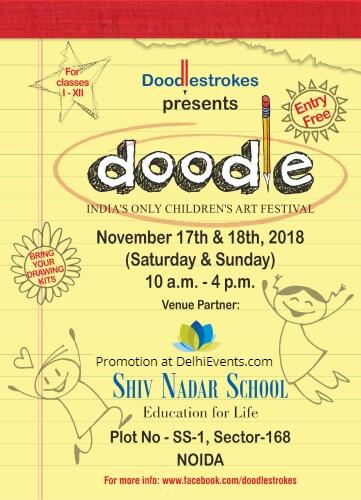 Doodle Festival 2018 Shiv Nadar School Creative