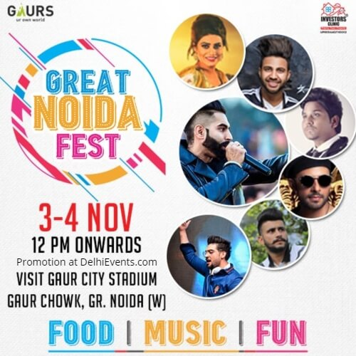 Great Noida Fest Gaur City Stadium Creative
