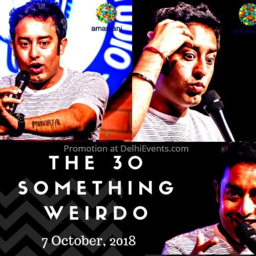 30 Something Weirdo Hinglish standup Amar Playground Comedy Studio Creative
