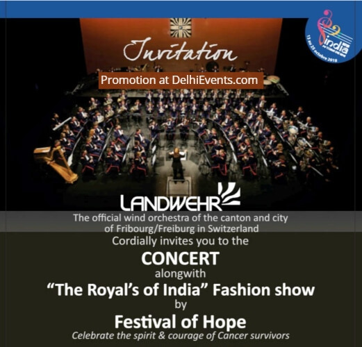 Festival Hope Swiss Wind Orchestra Landwehr Firbourg fashion show Royals India Sirifort Creative