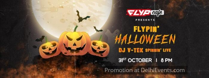 Flypin Halloween DJ VTek Flyp Cafe Creative
