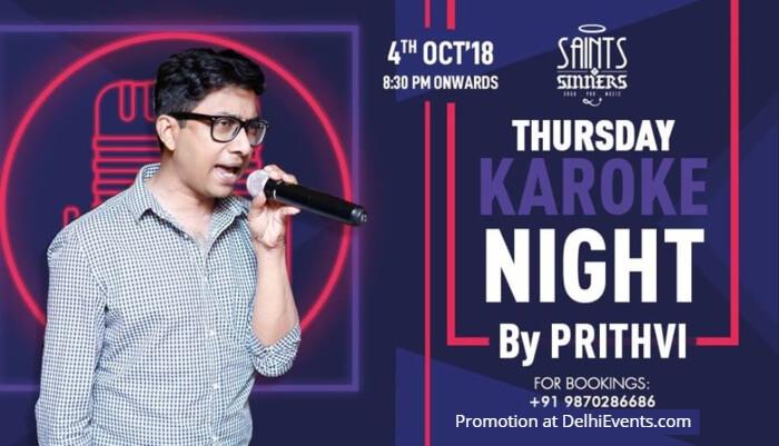 SNS Karaoke Night Prithvi Saints Sinners Creative