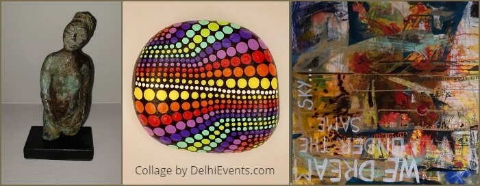 group show paintings drawings sculptures four International women artists Prithvi Fine Art Cultural Centre Artworks