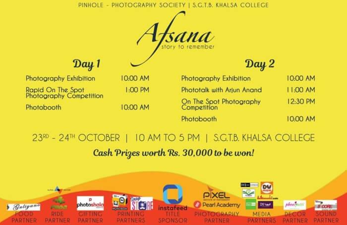 Afsana'18 Mid-Semester Photography fest Pinhole Photography Society Shri Guru Tegh Bahadur Khalsa College Creative