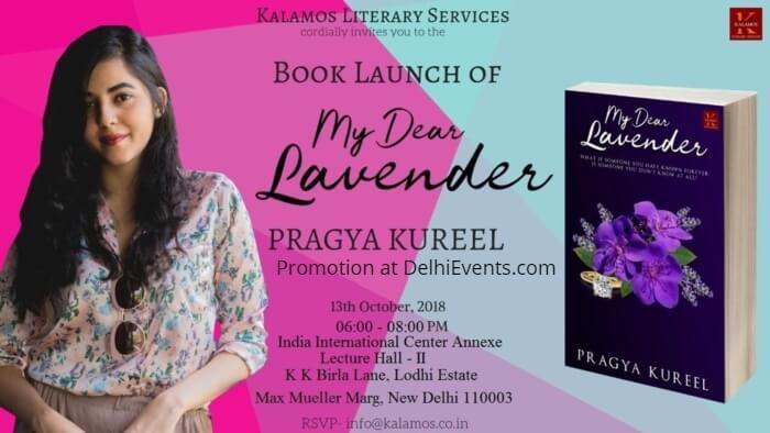 My Dear Lavender Author Pragya Kureel Book Launch India International Centre Creative