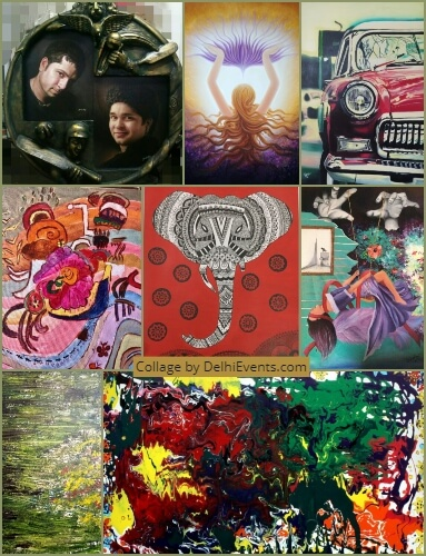 Utsav group art show Uchaan Art Gallery Exhibition Artworks