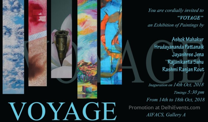 Voyage group show paintings AIFACS Creative