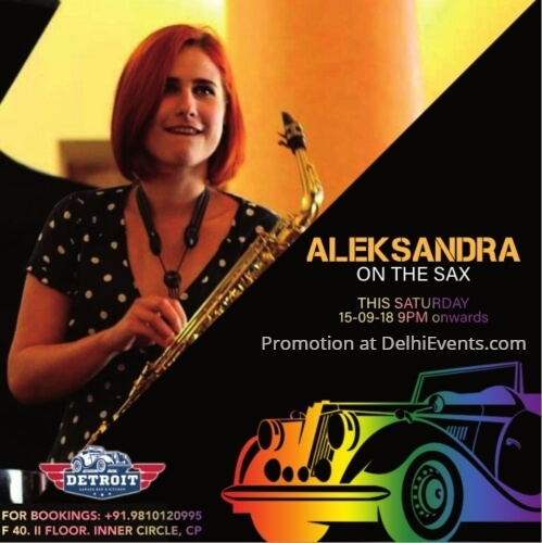 Aleksandra sax Detroit Garage Bar Kitchen Creative