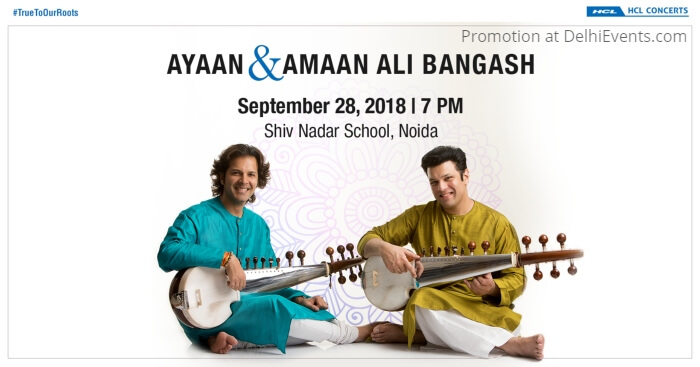 HCL Concerts fusion music concert Amaan Ayaan Ali Bangash Shiv Nadar School Creative