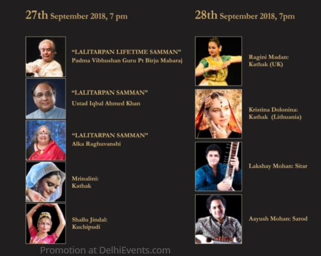 LalitArpan Festival 2018 Artists
