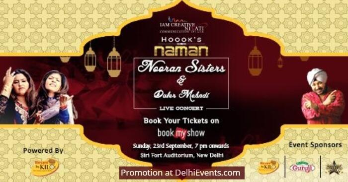 Naman Sufi Concert Nooran Sisters Daler Mehndi Sirifort Auditorium Creative