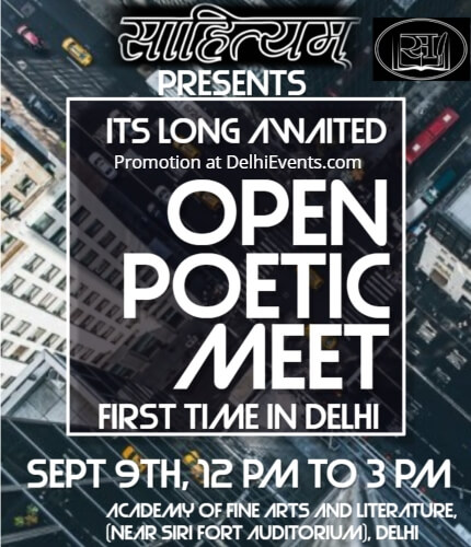 Sahityam Open Mic Poetry Meet Academy Fine Arts Creative